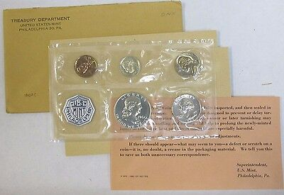 1962 US Silver Proof Coin Set with Original U.S. Mint Envelope & COA
