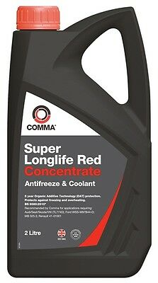 Comma SLA2L Super Red Concentrated Antifreeze - 2 Litre New