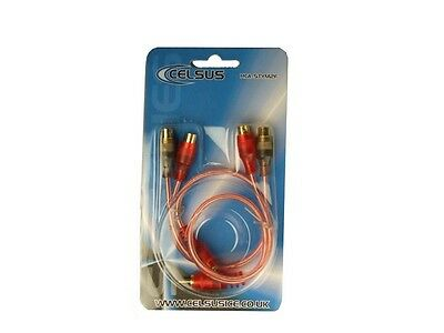 Celsus RCA-STYM2F Connect ST Series OFC Phono Cable - Pair of 1 Male to 2 Female