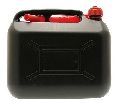Black Plastic Diesel Can - 10 Litre Cosmos 03203 New