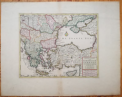 Tirion Fine Map of Greece Turkey Black Sea -  1750
