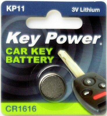 Key Power CR1616-KP Car Key Fob Battery CR1616 - Lithium 3V Keypower New