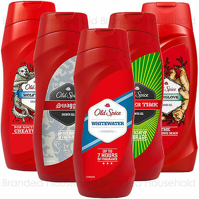 6 Old Spice Mens Shower Gel Clean Fresh Bath Soap Champion Whitewater Bearglove