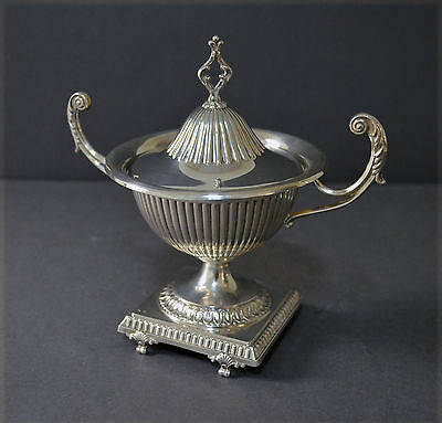 Decorative Spanish Solid Silver Two Handled Cup Empire Style Center Piece