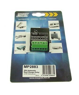 Maypole 2883 30A Automatic Dual Charge Replay New