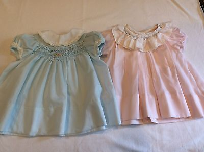 2 Vintage Baby Dresses Hand Smocked 1 Is Polly Flinders 3-9 Months