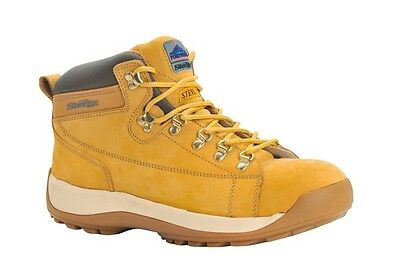 Honey Mid-Cut Nubuck Safety Boots SB - Size 10.5 Portwest FW31HOR45 New