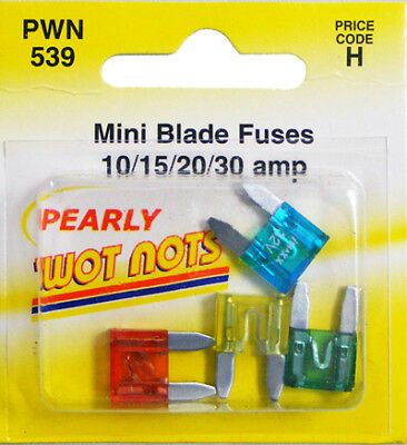 Assorted Mini Fuses - 10, 15, 20 & 30 Amp Wot-Nots PWN539 Genuine Quality New