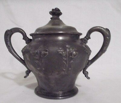 Vintage 1506 Eureka Quadruple Plate Sugar Bowl