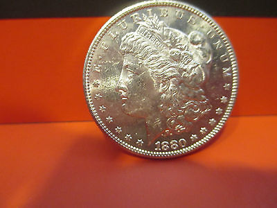 1880-S  BU Morgan Silver Dollar  Proof Like Reverse