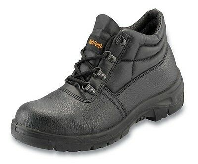 Black Safety Chukka Boot with Steel Midsole - Size 13 Worktough 101SM13 New