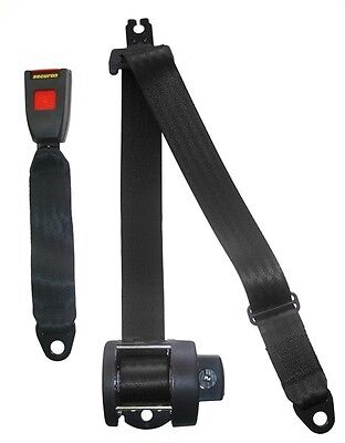 Seat Belt Auto Lap And Diagonal Blk 254 Securon Genuine Top Quality Replacement
