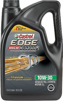 Castrol 03129C EDGE High Mileage 10W-30 Full Synthetic Motor Oil, 5 quart, New
