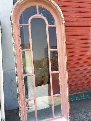 Spanish Revival Arched Window 1920's 70x24""