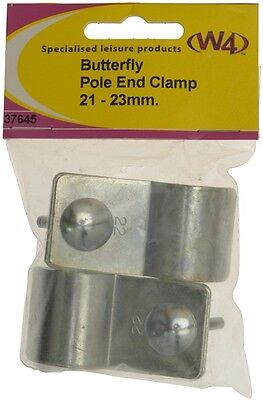 Butterfly Pole End Clamps - 21-23mm W4 37645 New