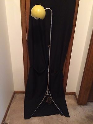 """Retro Collapsible Goose Neck Floor Lamp - 62"""" tall fully extended."""