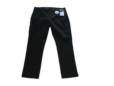 NEW LEE Modern Series Midrise Fit Stretch Tapered Ankle  Black Pants 16 NWT $52.