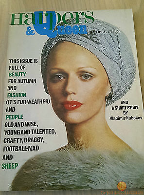 Harper's And Queen Vintage Fashion Magazine - October 1973 - UK Edition