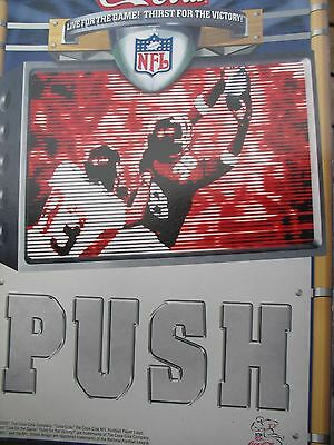 Coca Cola Nfl Football Push/pull Glass Door Decal 7In. X 10In 2Pcs