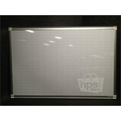 """Bi-Silque MA0392830 MasterVision Ultra Grid Planner Magnetic Whiteboard 24""""x36""""*"""