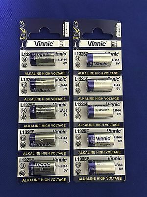 6V Alkaline battery L1325,4LR44...eq For Cameras,Dog collar,meters...QC HitechUS