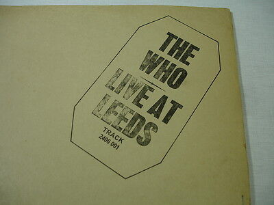 The Who Live At Leeds Track Uk First Black Stamp All 12 Correct Inserts Poster