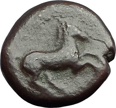 Carthage in Zeugitana 400BC Authentic Ancient Greek Coin TANIT & HORSE i62790