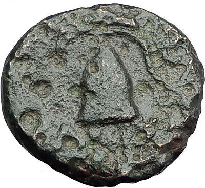 DEMETRIOS I Poliorketes MACEDONIA King Shield Helmet Ancient Greek Coin i62796