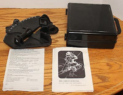 Vintage Ebbco Sextant With Case And Instruction Manual In Very Good Condition