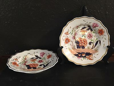 Pair Of Early 19th C. Hand Painted English Porcelain Plates
