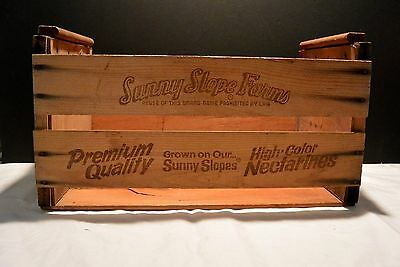 Vintage Sunny Slope Farms Wooden Fruit Crate - Box