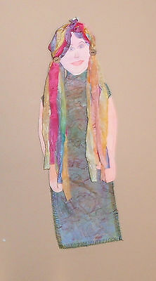 art doll wall hanging Gypsy lady