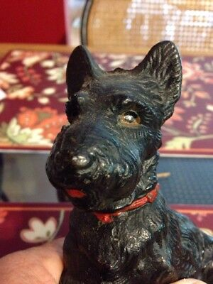 Antique Hubley Scotty Dog Scottish Terrier Doorstop Door Stop Figurine