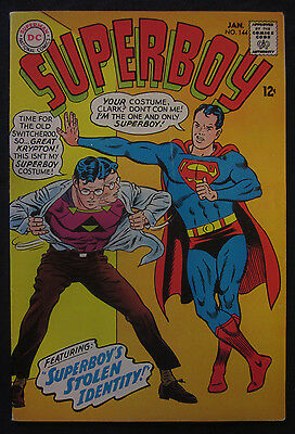 SUPERBOY #144 1968 DC Comics 7.0 FN/VF Silver Age KRYPTO