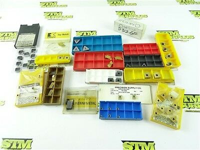 Large Lot Of Assorted New Solid Carbide Indexable Inserts Kennametal Iscar