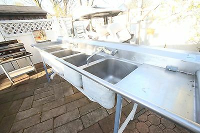 4 compartment restaurant commercial sink USED