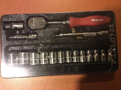 "Snap-on 1/4"" drive 117TMMR General Service Set METRIC 13pc Socket Red Ratchet"