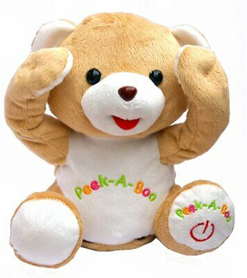 Cute Peek-a-boo Teddy Bear Animated Stuffed Animal By Bo Toys