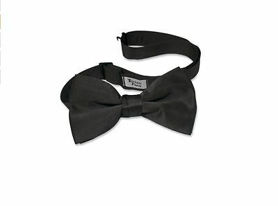 New Mens Black real satin Tux Bow tie Adjustable Neck Best Quality TUXEDO PARK