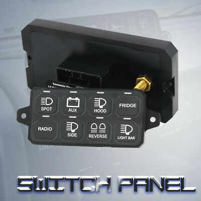8-Switch Panel Power System 4X4 Jeep Car Boat Caravan Wheeling Bazel Style