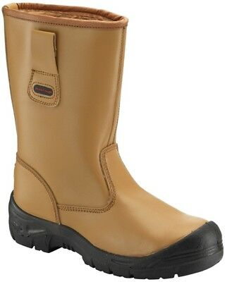 Tan Rigger Boot With Scuffcap Size 6 118SCM06 Worktough New