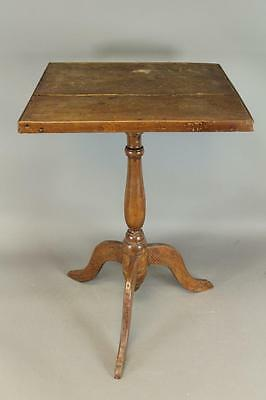 Rare Early 18Th C Rhode Island William And Mary Candlestand Tray Top Rare Form