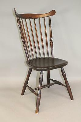 "Great 18Th C Connecticut ""tracy"" School Windsor Fan Back Chair Great Old Surface"