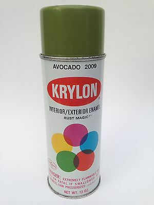 Vintage Krylon Avocado Green Spray Paint Can 1970s Unsprayed Full?  New Old Stck