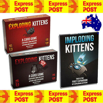 Express Shipping Exploding Kittens ORIGINAL / NSFW / IMPLODING KITTENS CARD GAME