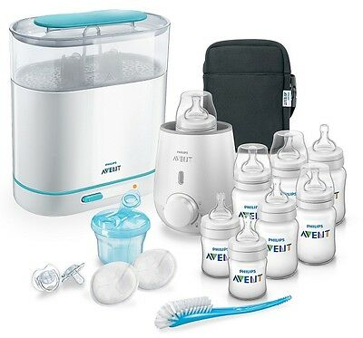 NEW Philips Avent Classic Bottle Solutions Set 16 Pcs (BPA Free) ALL IN ONE SET