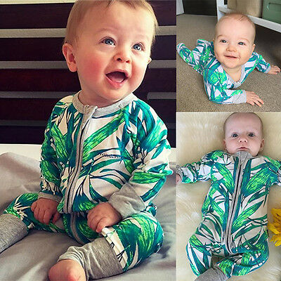 HOT Autumn Newborn Baby Boy Girl Romper Jumpsuit Playsuit Clothes Cotton Outfits