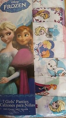 Disney Girls Panties Anna Elsa Frozen Underwear 7 Pack SZ 8