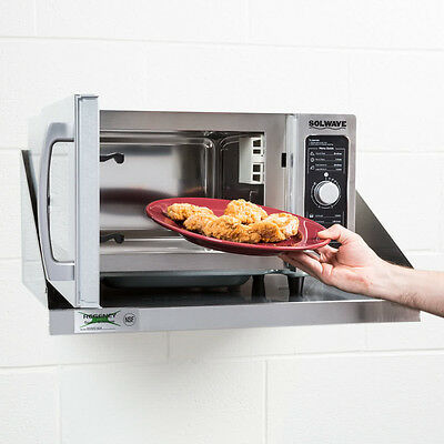 NEW! Solwave Stainless Steel Commercial Microwave 180MW1000D 1000W Dial Controls