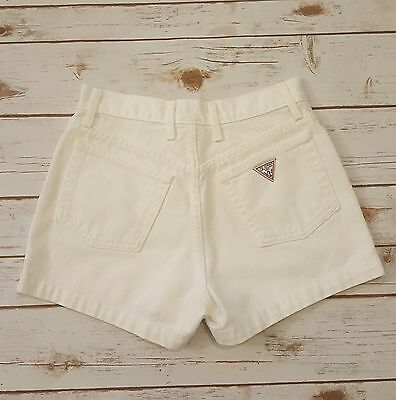 Guess Size 27 White High Waist MOM Jean Shorts Vintage 80s 90s USA